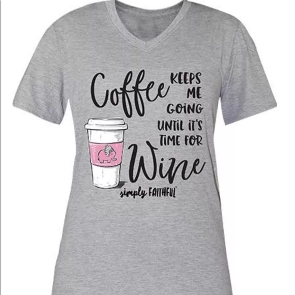 22d12d268 Simply Southern Coffee Until Wine Tee Large